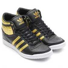 Adidas Top Ten Hi Sleek UP W Shoes Trainers Size 41 1/3 schwarz / gold