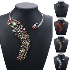 Fashion Women Crystal Rhinestone Pendant Charm Open Necklace Choker Collar New