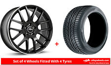 """Alloy Wheels & Tyres 20"""" SuperMetal Trident For Volvo S60 Cross Country 15-16"""