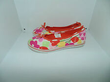 Youth Girl 1 Gymboree Tea Time Afternoon Canvas Floral Sneaker Flats Shoes