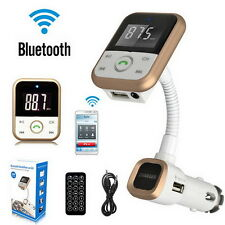 Car Handsfree Kit Bluetooth MP3 Player SD USB FM Transmitter Remote Control