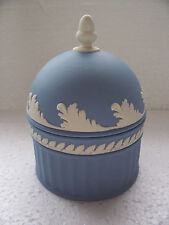 Wedgwood Blue jasperware Domed Lidded Bowl  in excellent condition.