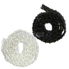 Beaded Lace Trim Mesh Fabric Pearl Trims Decor Wedding Dress DIY Sewing Applique