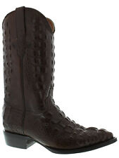 Mens Brown Full Alligator Hornback Exotic Western Cowboy Rodeo Boots