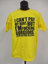 "NEW SEMI PRECIOUS WEAPONS ""CAN'T PAY MY RENT"" MENS SIZE S-M-L-XL CONCERT T-SHIRT"