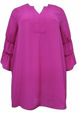 New Emily @ Simply Be Ladies Pink Tiered Bell Sleeve Plus Size Tunic Caftan