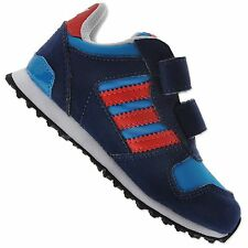 ADIDAS ORIGINALS ZX 700 CF INFANT CHILDREN BABY BOYS' SHOES BLUE RED 19 up to 22