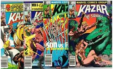 Four Marvel Comics Group Kazar The Savage Comics