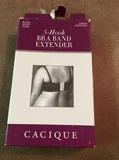 Cacique 5-hook bra band extender 1 white 1 nude pack of 2 MISSING BLACK