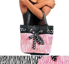 Zebra/Leopard Animal Print Polka Dot Bow Gym/Book/Diaper/Tote/Hobo Purse/Handbag