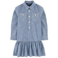 Polo Ralph Lauren Childrenswear Girls' 7-16 Chambray Jeans Solid Dress