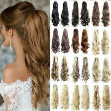 Thick Ponytail Clip in Hair Extension Claw Pony tail Clip on Extension Synthetic
