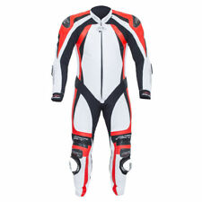 RST PRO SERIES CPX-C II 1840 MENS White Flo Red LEATHER ONE PIECE RACE SUIT