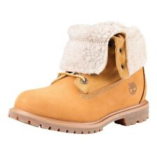 Timberland 8329R Teddy Fleece Boots Ladies Boat Shoes Winter boots Wheat yellow