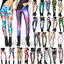 Womens High Waist Stretch Leggings Jegging Skinny Yoga Pants Trousers