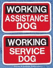 WORKING ASSISTANCE SERVICE DOG PATCH 2.5X4 in Danny & LuAnns Embroidery support