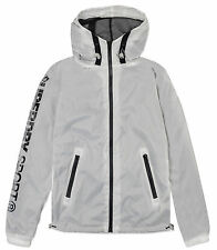 Superdry Sport Tracer Cagoule Jacket Run gym Hooded Womens' Zip White BNWT