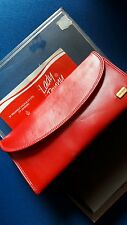 vintage Amity leather secretariat/purse/wallet in Red.