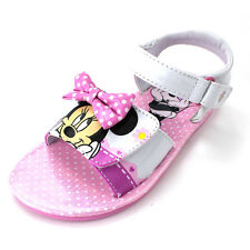 Minnie Mouse Girls White Sandals Shoes (Toddler/Little Kid) MNA14L305A2 Disney
