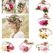 Women Boho Flower Headband Party Festival Wedding Bridal Beach Hairband