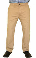Genuine Lee Cooper Mens Beige Chinos Jeans Slim Fit Cotton Trousers Chino Pants