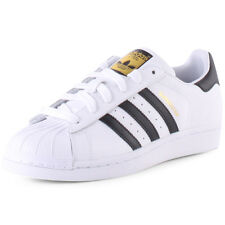 adidas Superstar J Kids Trainers White Black New Shoes