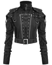 Punk Rave Womens Dieselpunk Jacket Black Goth Dystopian Post Apocalyptic LARP