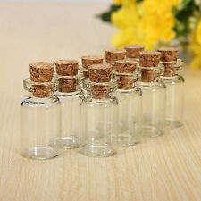 Mini Small Clear Tiny Glass Cork Stopper Vial Jars Containers Bottle Bulk  Lot