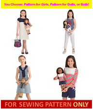 SEWING PATTERNS~AMERICAN GIRL DESIGNS~MATCHING OUTFITS! U PICK DOLL~GIRL~BOTH