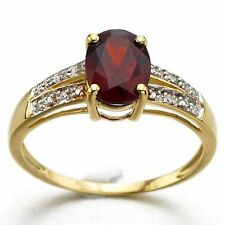 Best Gift For Women Size 6,7,8,9 Red Garnet 18K Gold Filled Wedding Banquet Ring