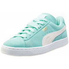 Puma Suede Classic Womens Trainers Green White New Shoes