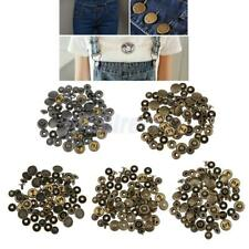 20 Sets Metal Snap Fastener Poppers Press Studs Sewing Leather Craft Snap Button