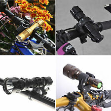 Outdoor Road Bike Bicycle Cycling Flashlight Lamp Holder Clip Light Torch Clamp