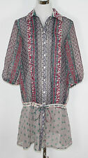 "Long Blouse Tunic ""Paisley L/S Shirt Dress"" creamy floral NEW SRP"