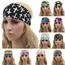 Womens Boho Wide Floral Yoga Headwrap Nonslip Running Elastic Headband Exquisite