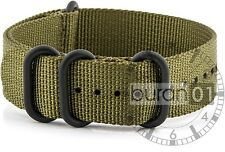 watch bands- ZULU PVD Wrist watch band Nylon olive-green 18mm 20mm 22mm 24mm