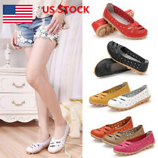 Women's Ladies Breathable Flats Casual Loafers Slip On Shoes Oxfords US STOCK
