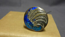 Antique Sterling Silver & Enamel Arts & Crafts Style Hat Pin