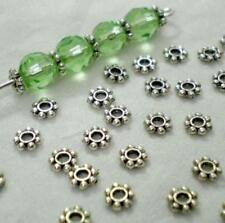 1000X Tibetan Silver Daisy Flower Shaped Spacer Beads Jewelry Making DIY 4-6mm