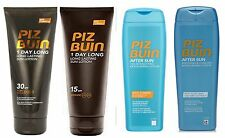Piz Buin 1 Day Long Suntan Lotion or Aftersun 200ml each (pack of 2) choose