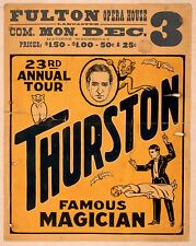 Photo Print Vintage Poster: Stage Theatre Flyer Stage Magician Thurston 01