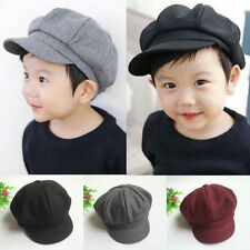New Baby Toddler Kid Infant Boy Girl Beret Cap Dome Octagonal Hat Baseball Hot