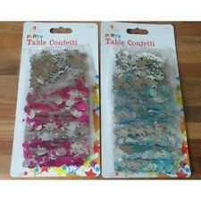 Table Confetti Blue or Pink & Silver Balloon Star Swirls New Party Decoration