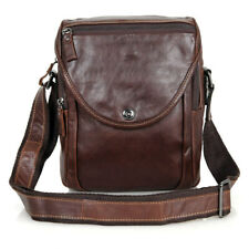 Brown Men's Genuine Leather Messenger Bag Shoulder Bag Casual Cross body Handbag
