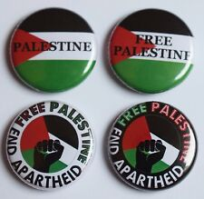 """FREE PALESTINE GAZA SYRIA 25mm 1"""" FLAG  BADGES **ALL PROCEEDS TO CHARITY**"""