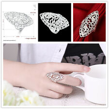 2017 Fashion Ladies Flowers Plating Women Big Ring Rings Leave Shape Jewelry