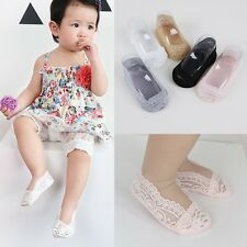 Kid Baby Invisible Non-Slip Ankle Sock Infant No Show Cotton Low Cut Lace Sock