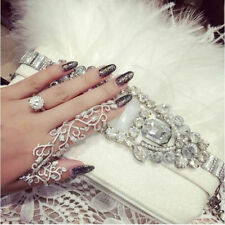 Fashion Punk Rock Gothic Gold Silver Double Full Finger Knuckle Armor Ring Hot