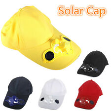 Solar Power Cool Cooling Fan Hat Cap For Golf Baseball Hiking Outdoor Sport