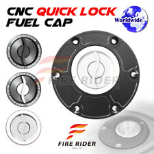 Silver Quick Lock Fuel Cap 1 pc For Triumph Daytona 955i 98-06 01 02 03 04 05